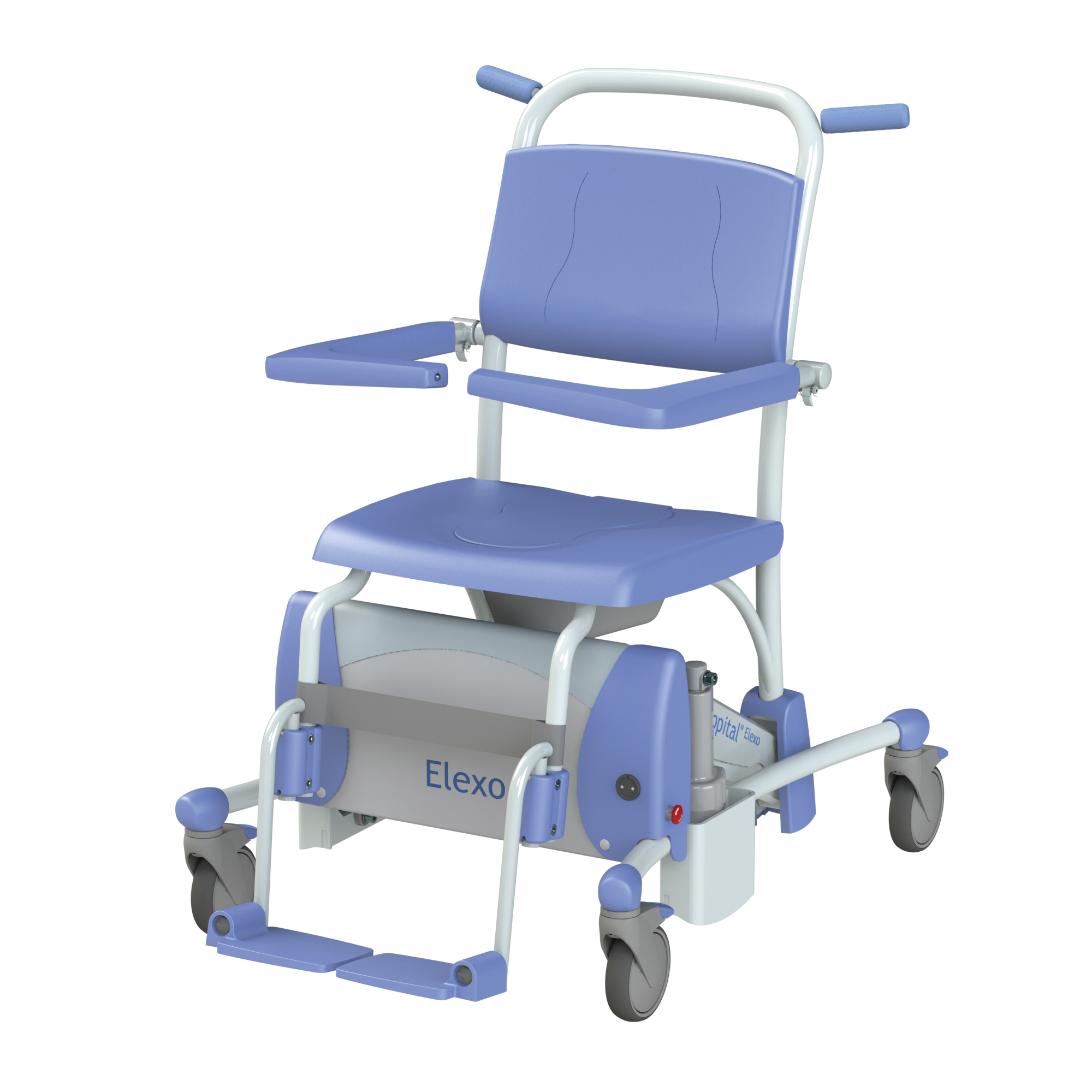 padded removable with shower and arms chair drive medical index back
